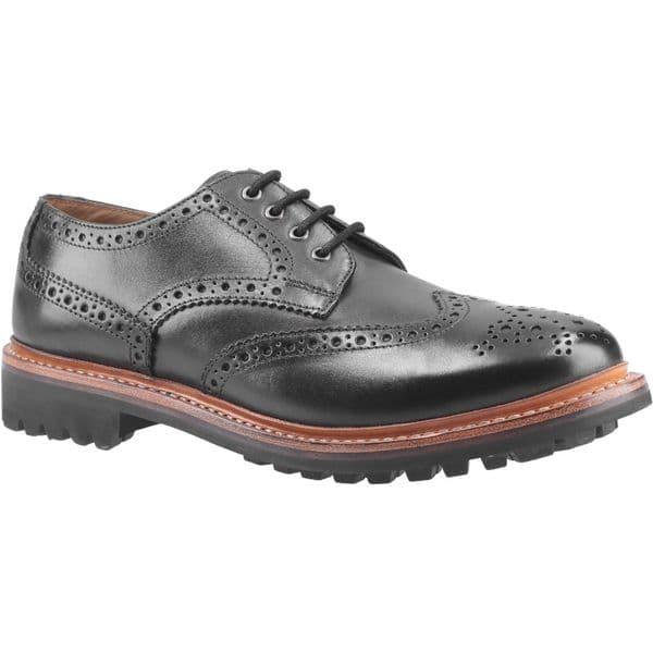 Cotswold Quenington Commando Lace Mens Shoes Black